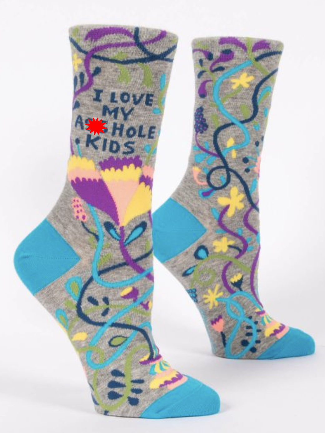 Blue Q I Love My Job Women's Crew Socks