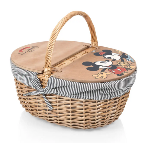 Mickey & Minnie Mouse Country Picnic Basket