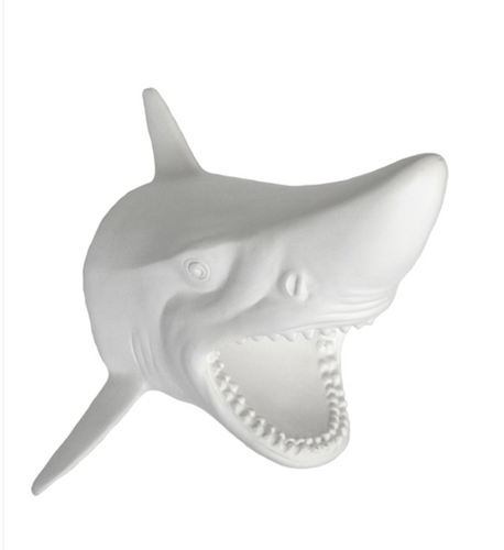 White Shark Head Wall Decor