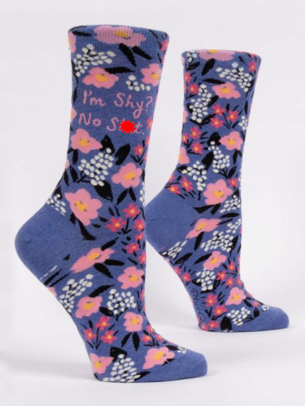 Blue Q I'm Shy? Women's Crew Socks