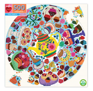 Tea Party Round 500 piece puzzle