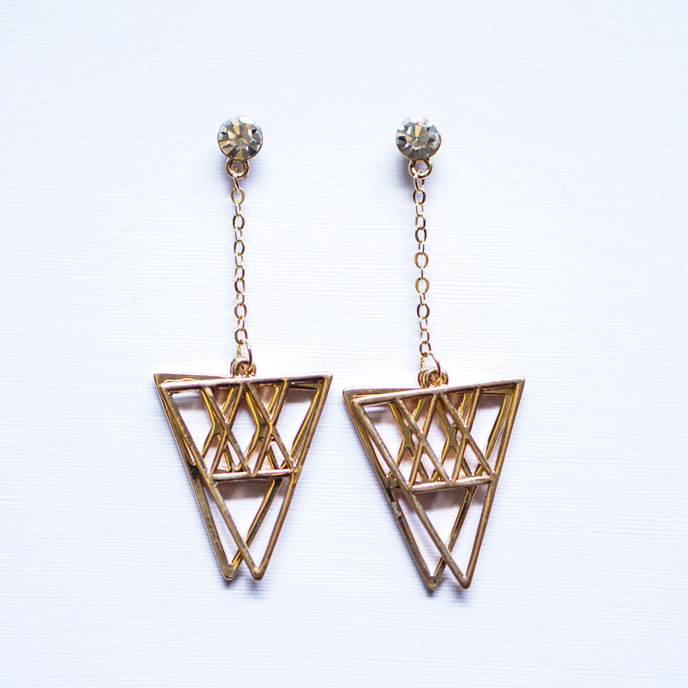 Genesis Overlap Dangle Earrings (Last piece)