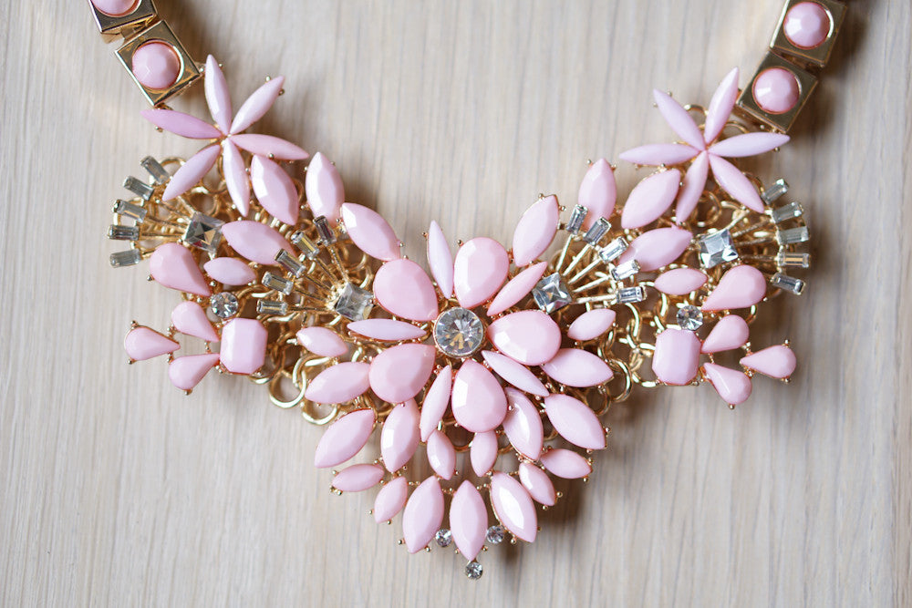 Summer Festival Necklace in Pink (Last piece)