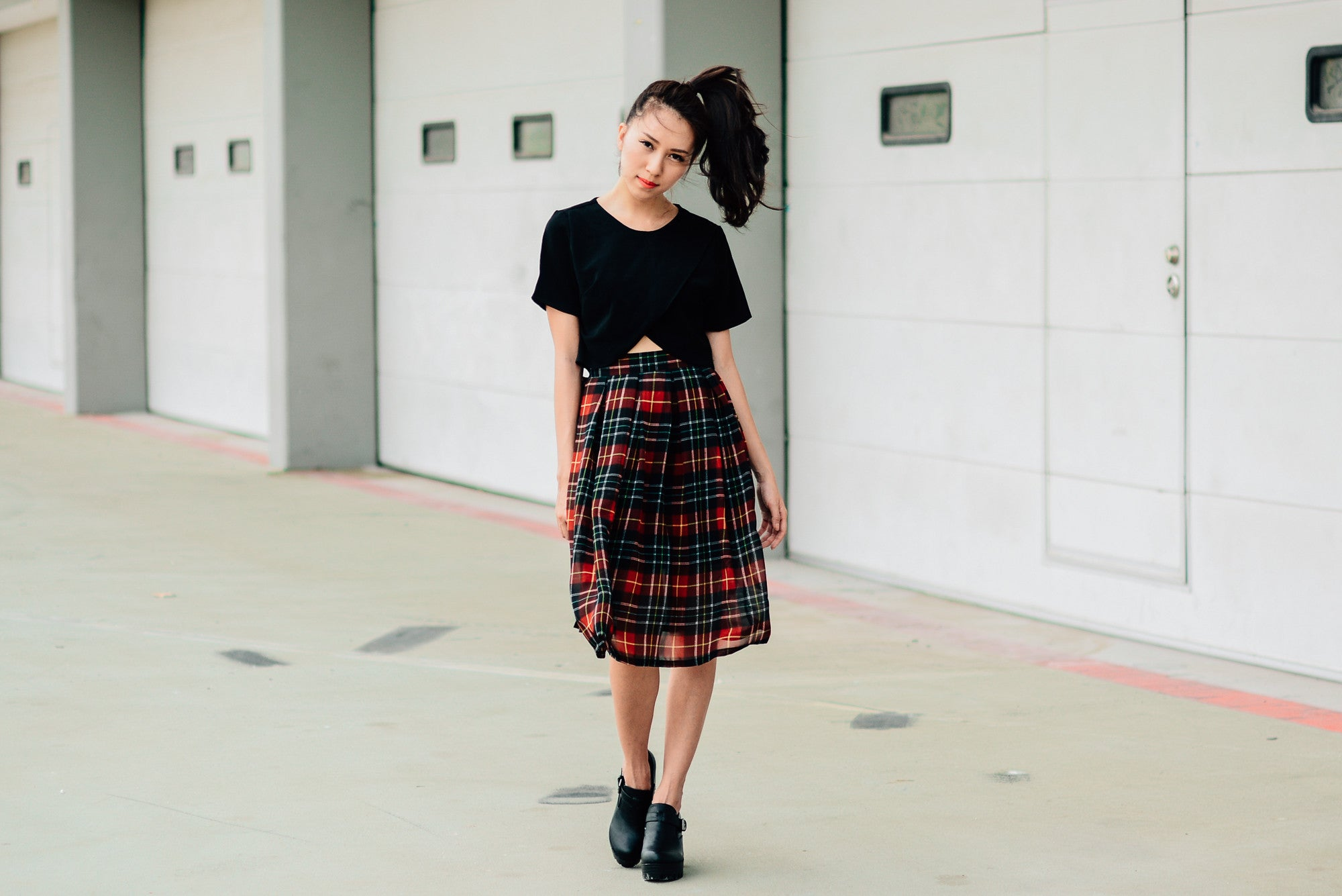 Scottish Pleated Midi Skirt (Last piece)