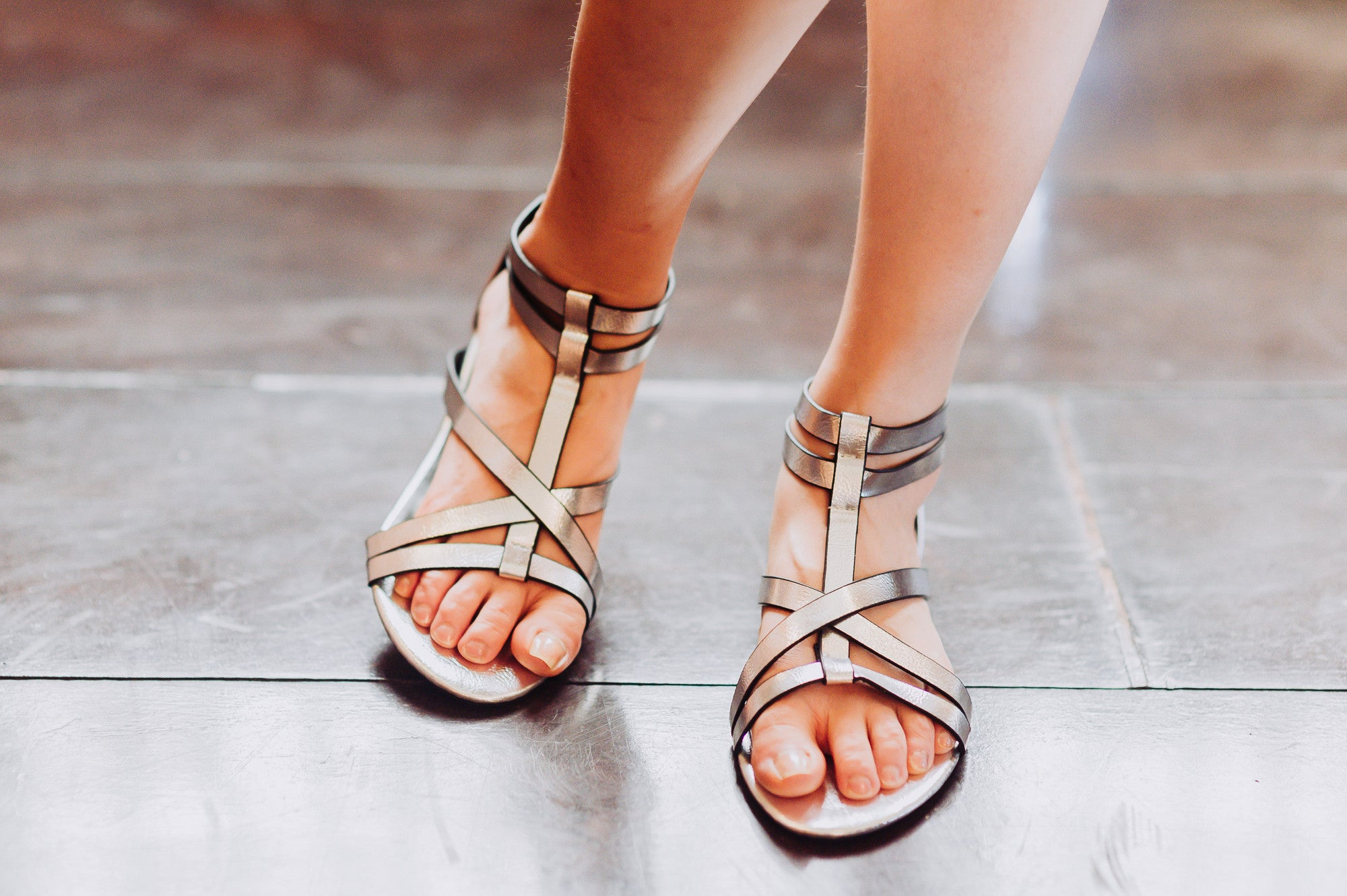 Strappy Sandals in Silver