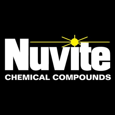 Nuvite Chemical Compounds logo, white letters on black background