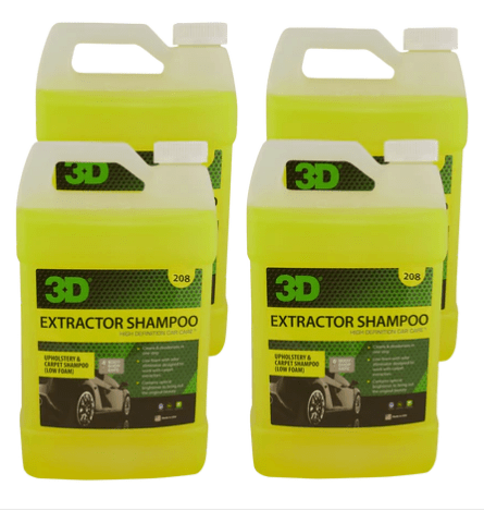 3D Products Canada Carpet Care and Upholstrey 4 pack 3D Products Extractor Shampoo