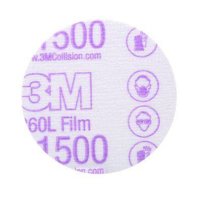 "3M Auto Equipment 3"" / P1500 3M Auto Hookit Finishing Film Discs"