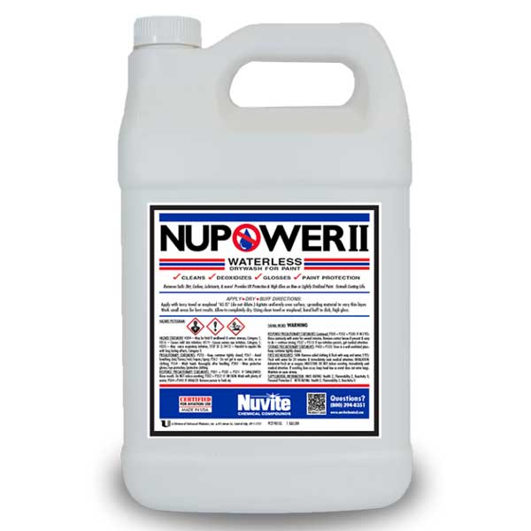 NuVite Aircraft Wash Quart NUVITE NUPOWER II DRY CLEAN AND POLISH ***