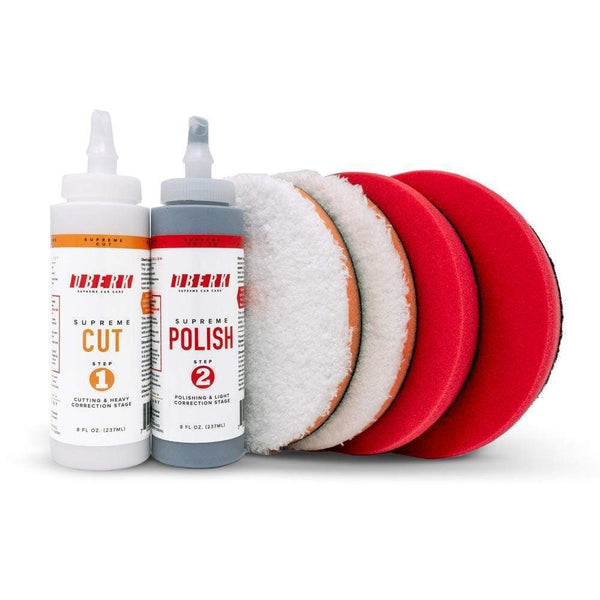 "Oberk Paint Correction 3.5"" pads for 3.5"" backing plate Oberk 2-Step 8 oz. Complete System ***"