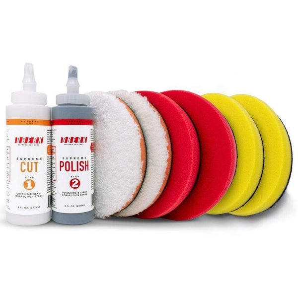 "oberk Paint Correction with 5.5"" pads for 5"" backing plate Oberk 8 oz. Ultimate Kit ***"