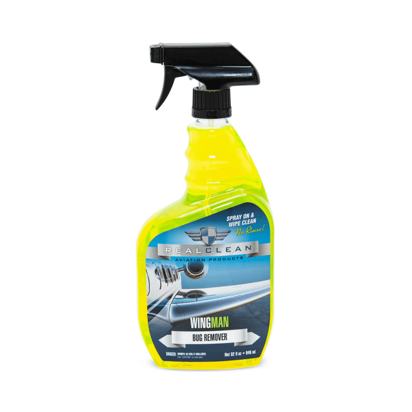 Real Clean Aviation Products Aircraft Wash 32 oz Real Clean Aviation WingMan Bug Remover Spray