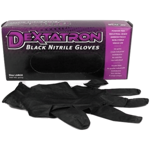 Superior Glove Works Inc. XL Hi Tech Industries Dextatron Black Nitrile Gloves