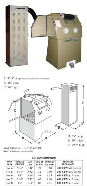 ZERO BNP 55 Suction Blast Cabinet