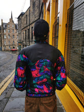 Load image into Gallery viewer, Black and Multicolour Shell Jacket