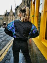 Load image into Gallery viewer, Black and Celestial Vintage Bomber Jacket