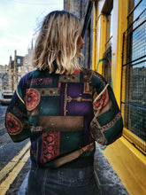 Load image into Gallery viewer, Multicolour and Gold Trim Statement Bomber Jacket