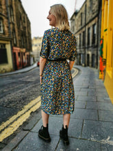 Load image into Gallery viewer, Multicolour Ditsy Floral Vintage Dress