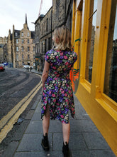 Load image into Gallery viewer, Pink and Purple Floral Tea Dress
