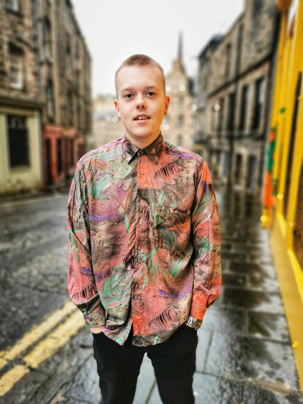 Funky Multicoloured Vintage Shirt