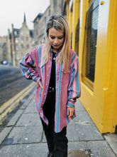 Load image into Gallery viewer, Wrangler Pink Striped Western Shirt