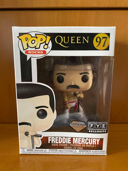 QUEEN - FREDDIE MERCURY #97 DIAMOND (FYE EXCLUSIVE) FUNKO POP! VINYL - HDTOYS Shop