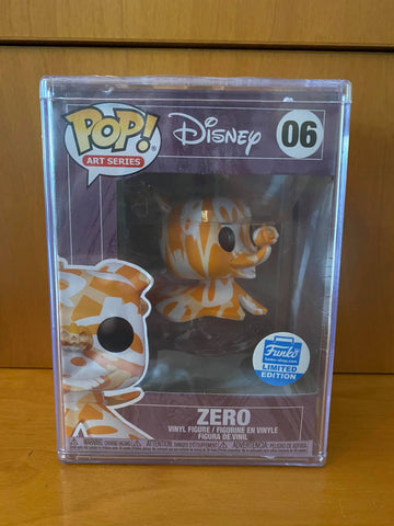 DISNEY ART SERIES - NIGHTMARE BEFORE CHRISTMAS - ZERO #06 (FUNKO SHOP) FUNKO POP! + HARD STACK VINYL - HDTOYS Shop