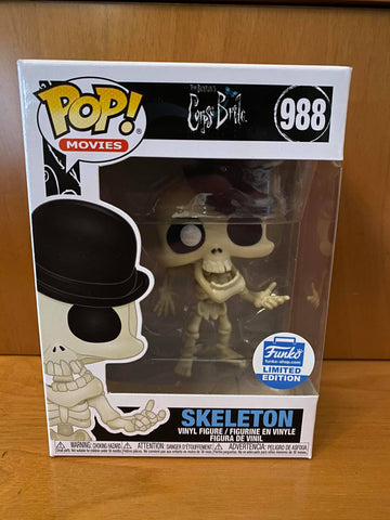 CORPSE BRIDE - SKELETON #988 (FUNKO SHOP EXCLUSIVE) FUNKO POP! VINYL - HDTOYS Shop
