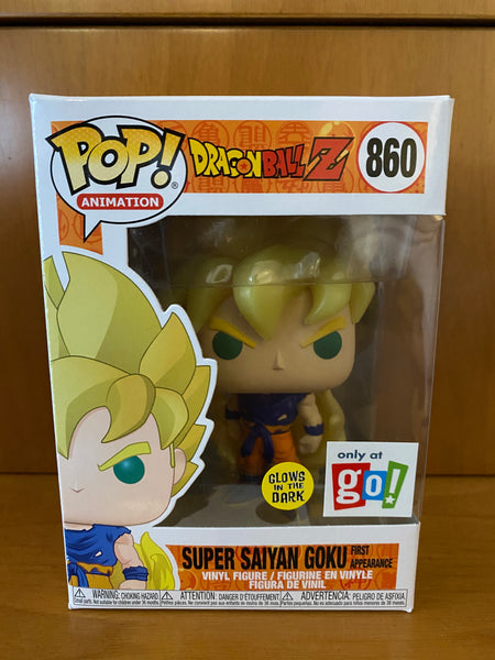DRAGON BALL Z - SUPER SAIYAN GOKU FIRST APPEARANCE GLOW #860 (ONLY AT GO!) FUNKO POP! VINYL