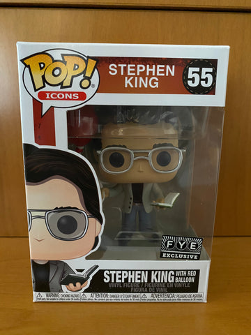 ICONS - STEPHEN KING WITH RED BALLON - #55 - (FYE) FUNKO POP! VINYL