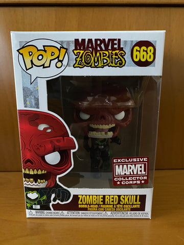 MARVEL ZOMBIES - COLLECTOR CORPS - ZOMBIE RED SKULL - #668 (COLLECTOR CORPS) FUNKO POP!  VINYL - HDTOYS Shop