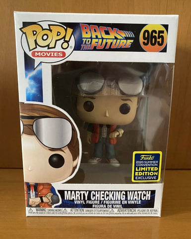 BACK TO THE FUTURE - MARTY CHECKING WATCH #965 (SDCC 2020) FUNKO POP! VINYL
