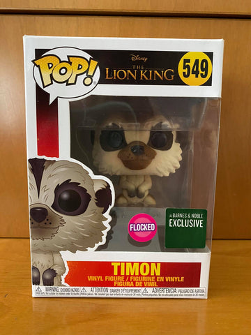 THE LION KING - TIMON FLOCKED #549 (BARNES & NOBLE) FUNKO POP! VINYL - HDTOYS Shop