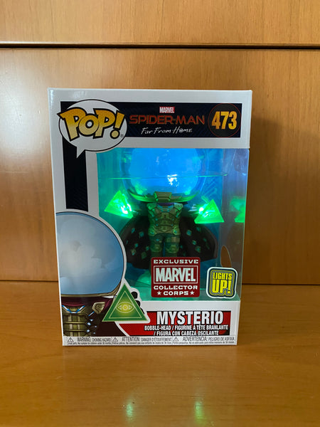 MARVEL - SPIDER MAN FAR FROM HOME - MYSTERIO #473 LIGHT UP! (MARVEL COLLECTOR CORPS) FUNKO POP! VINYL