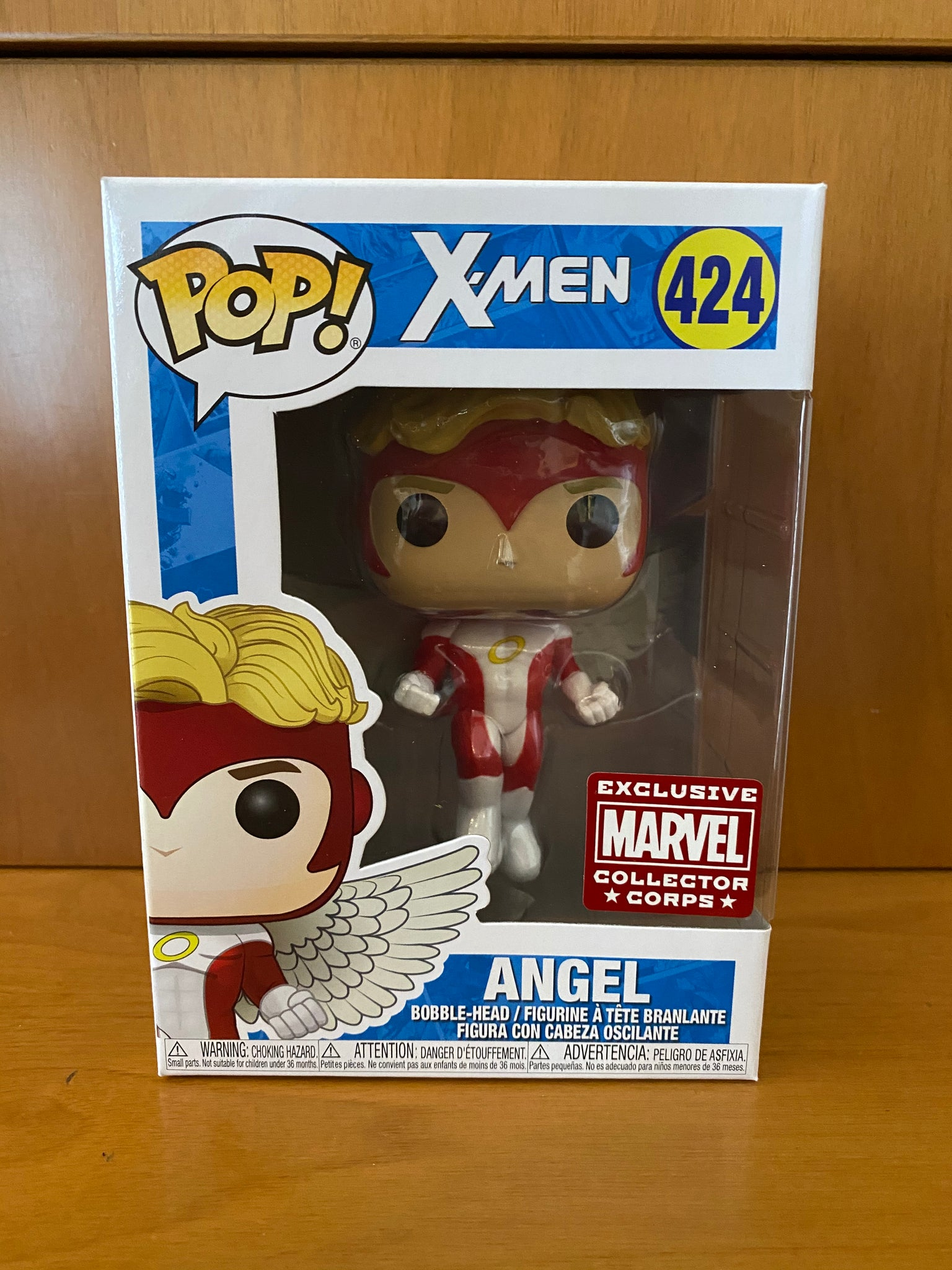 X MEN - ANGEL - #424 (MARVEL COLLECTOR CORPS) FUNKO POP!  VINYL