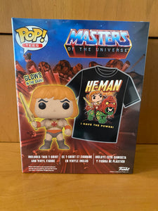MASTERS OF THE UNIVERSE BOX - HE-MAN FUNKO POP! GLOW IN THE DARK (WALMART EXCLUSIVE) + T-SHIRT L - HDTOYS Shop