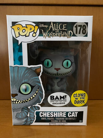 DISNEY - ALICE IN WONDERLAND - CHESHIRE CAT #178 GLOW (BAM EXCLUSIVE) FUNKO POP! VINYL