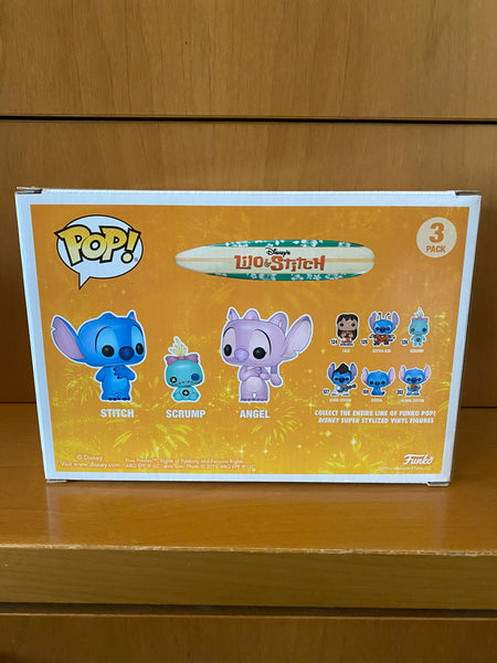 LILO & STITCH - STITCH SCRUMP & ANGEL,  # 3PACK (HOT TOPIC EXCLUSIVE) FUNKO POP! VINYL