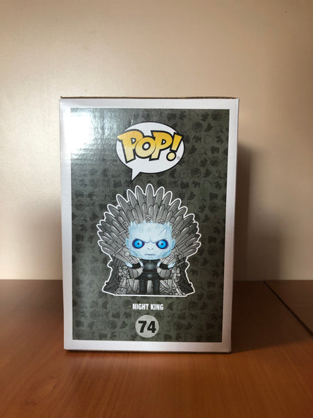 GAME OF THRONES – NIGHT KING METALLIC ON IRON THRONE #74 (HBO EXCLUSIVE) FUNKO POP! VINYL - HDTOYS Shop