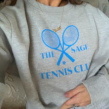 Load image into Gallery viewer, Grey/Blue The Sage Tennis Club Crewneck
