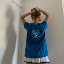 Load image into Gallery viewer, PREORDER- The Sage Tennis Club Hand Printed Tee - French Blue