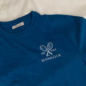 PREORDER- The Sage Tennis Club Hand Printed Tee - French Blue