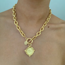 Load image into Gallery viewer, Susan Shaw Gold Coin 24k-Plated Necklace