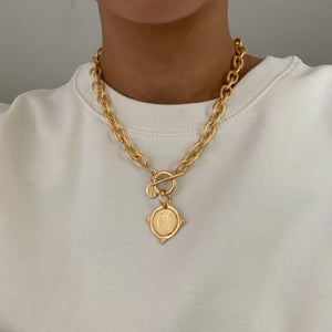 Susan Shaw Gold Coin 24k-Plated Necklace