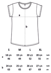 Rolled Sleeve T size diagram