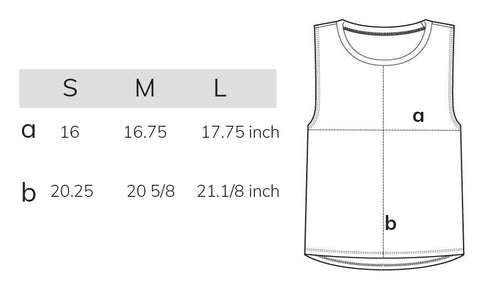 MUSCLE T SIZE GUIDE