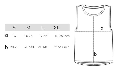 muscle t size chart
