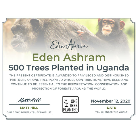 Tree planting certificate