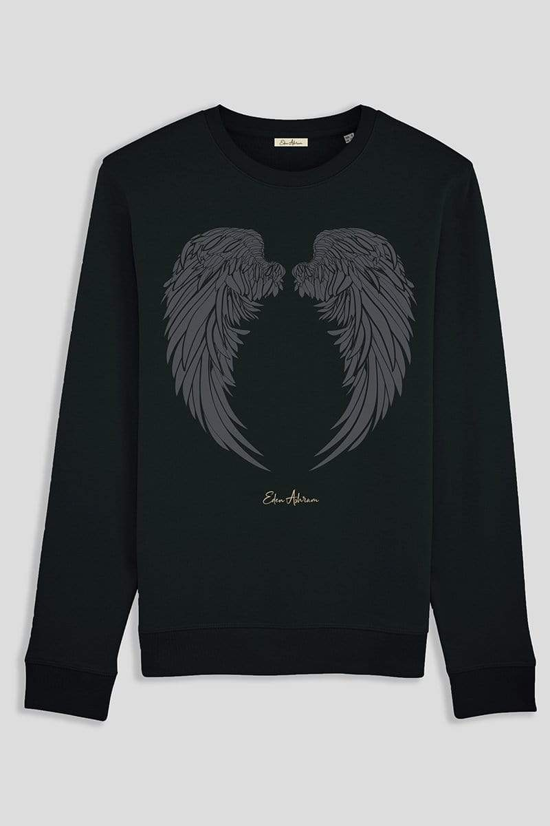 EDEN ASHRAM Angel Wings Brushed Organic Sweatshirt