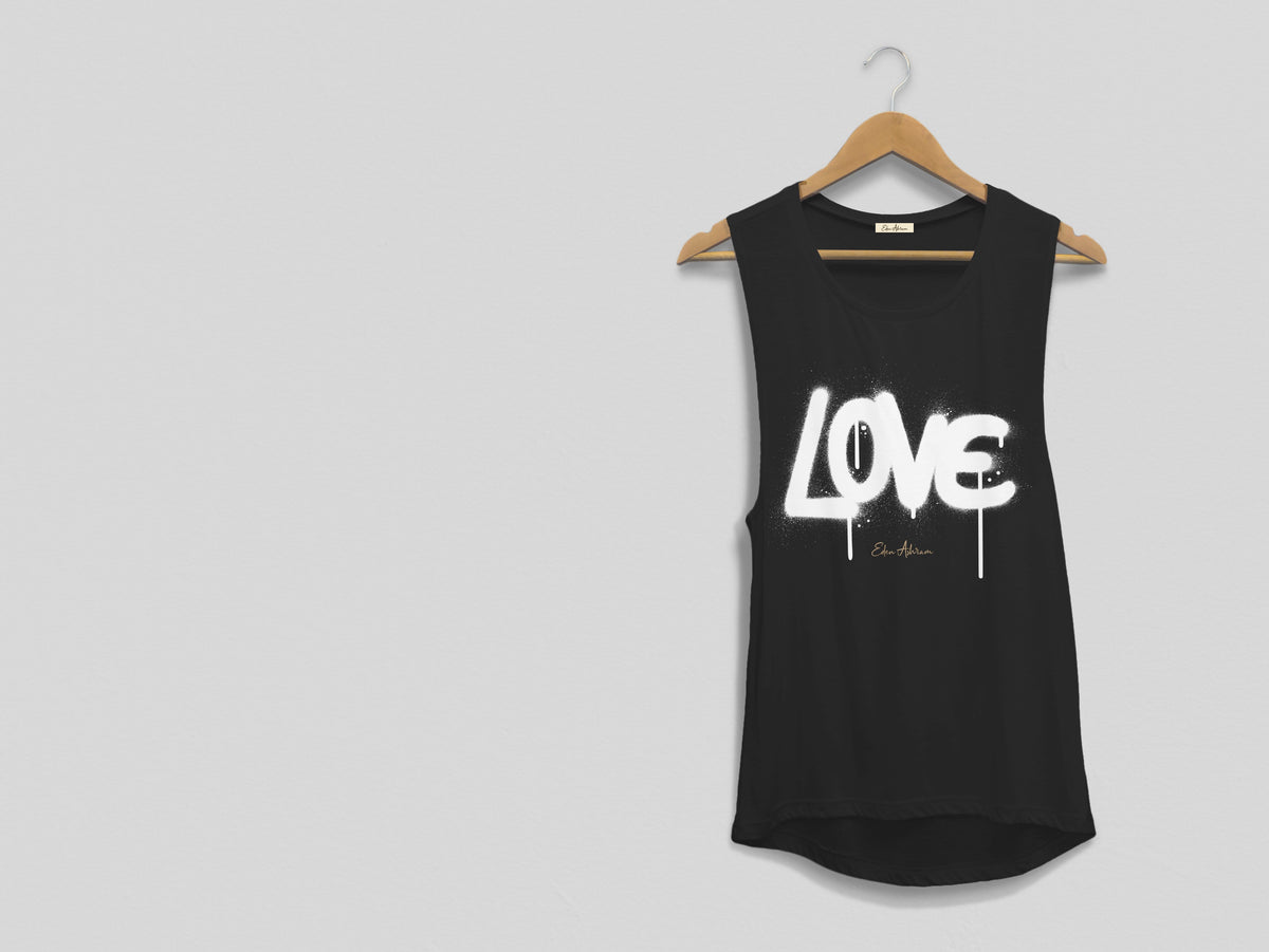 Graffiti Love Scoop Muscle Tank